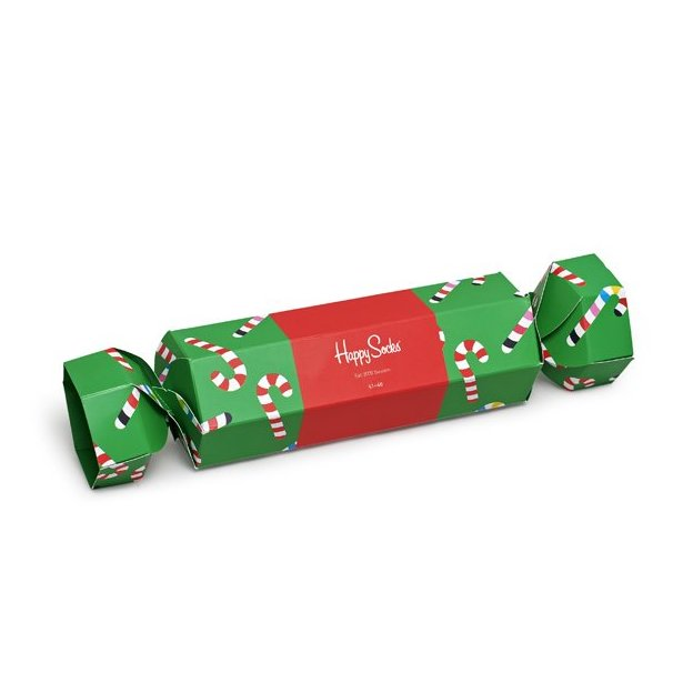 HappySocks Geschenkbox Christmas Cracker Candy Cane 36-40