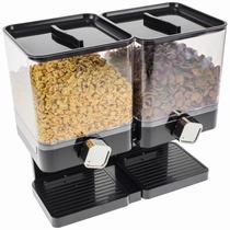 Luxus Doppel Cornflakes Dispenser - Schwarz