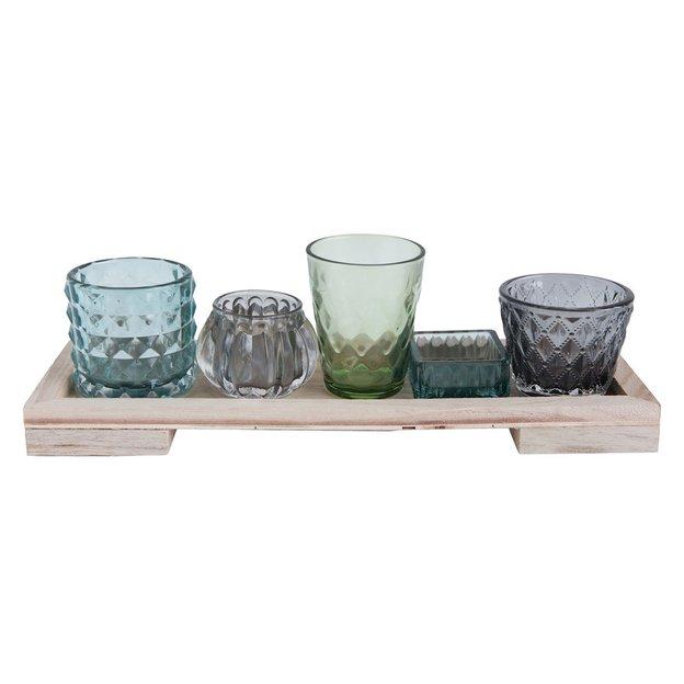 Bloomingville Vasen Set blau 6-tlg
