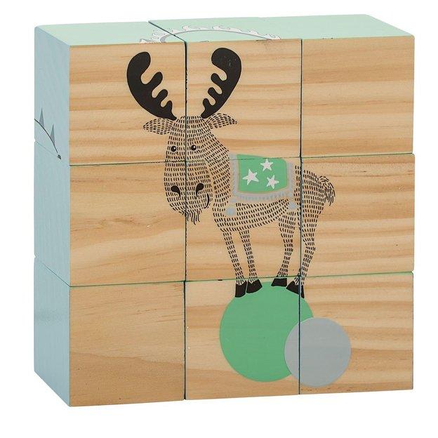 Cube puzzle en bois Le cirque Bloomingville