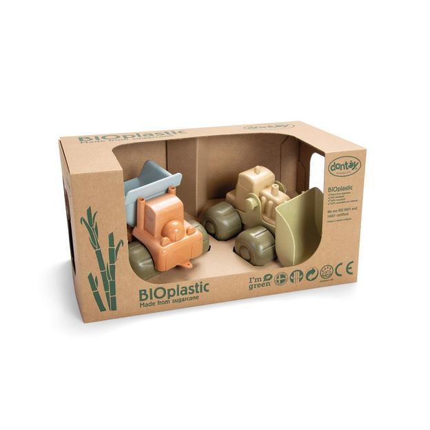 Set de jouets véhicules de chantier en bioplastique