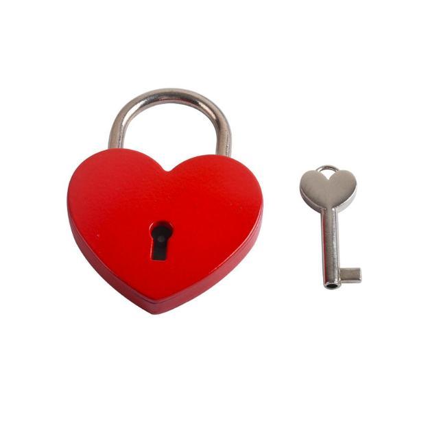 Personalisierbares Liebesschloss Herz 5.5cm rot