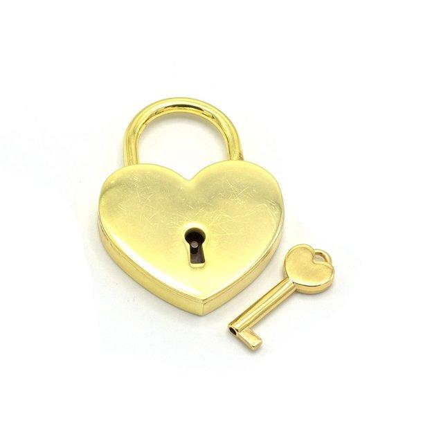 Cadenas d'amour cœur personnalisé or 5,5 cm