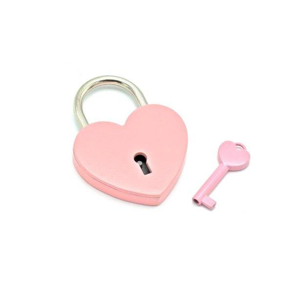 Cadenas d'amour cœur personnalisé rose 5,5 cm