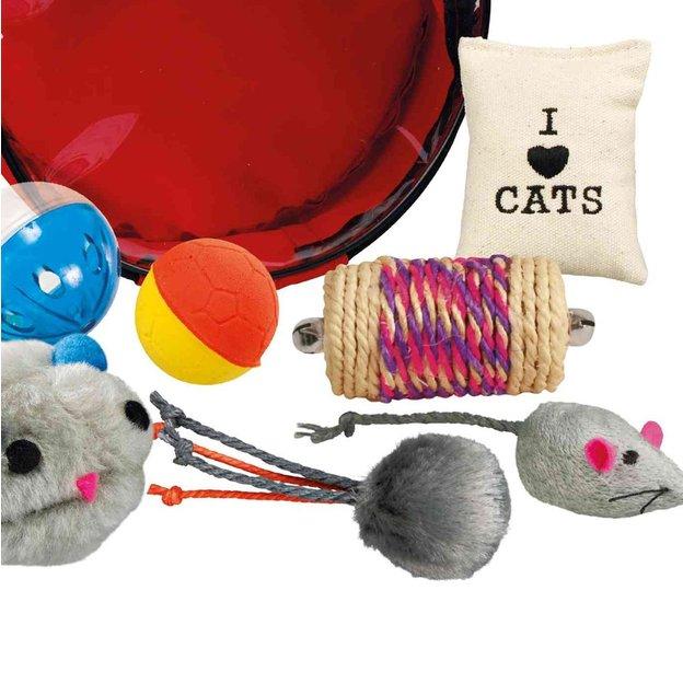 Katzen Spielset in Tasche 7-tlg