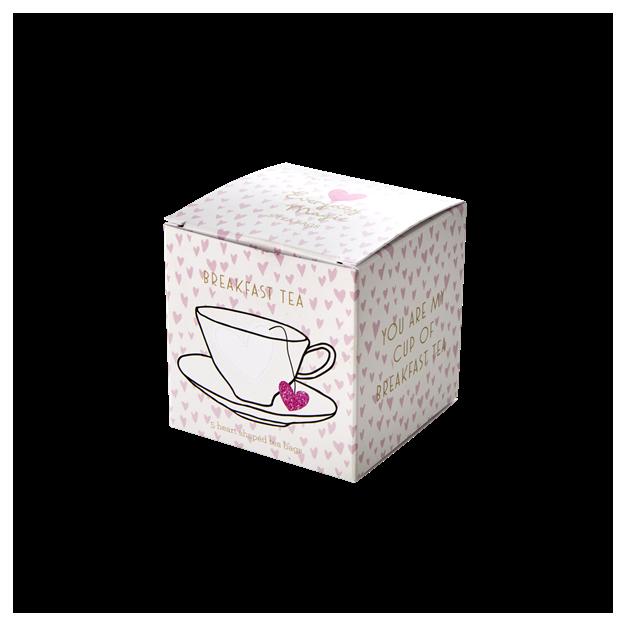 Sachets de thé en forme de cœurs Breakfast Tea Rice