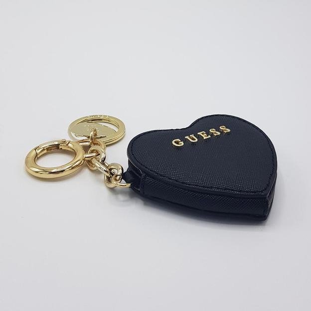 Guess Keychain Heart black