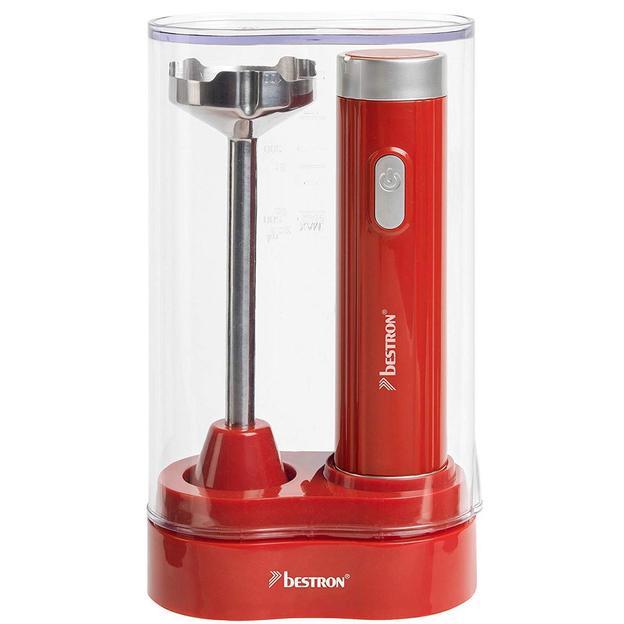 Stylisher Stabmixer & Aufbewahrungsbox, Rot