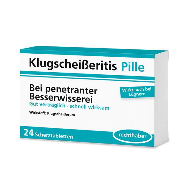 Klugscheisseritis Pille - 24 Schokolinsen