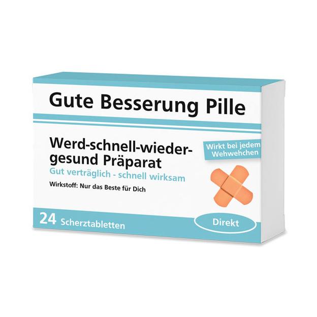 Gute Besserung Pille - 24 Schokolinsen