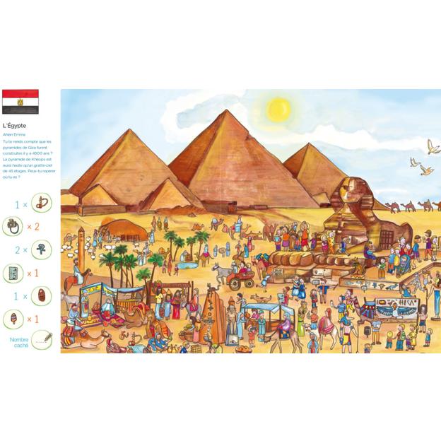 Livre personnalisé pour enfant Mon voyage autour du monde
