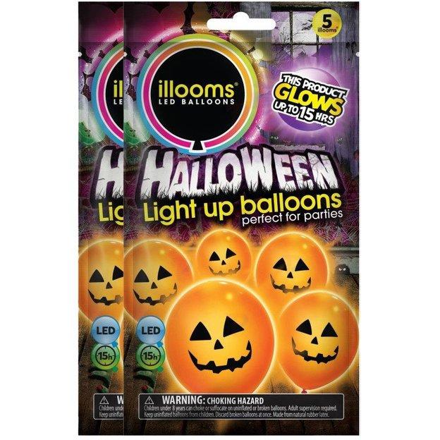 Ballons LED Halloween, 10 pièces