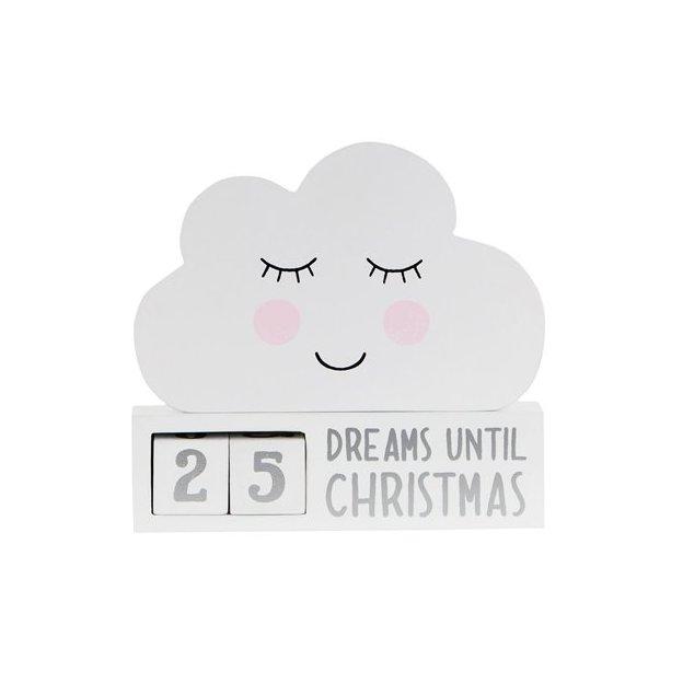 Weihnachts Countdown Wolke