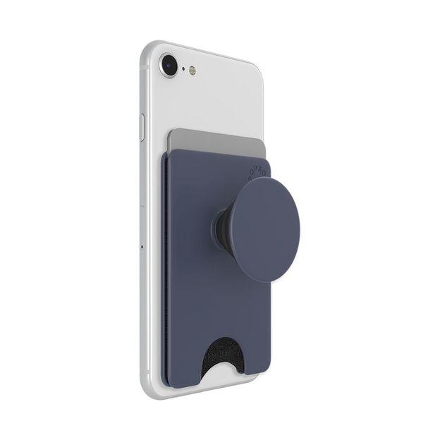 Porte-carte et poignée pour smartphone PopSockets PopWallet Shadow Blue