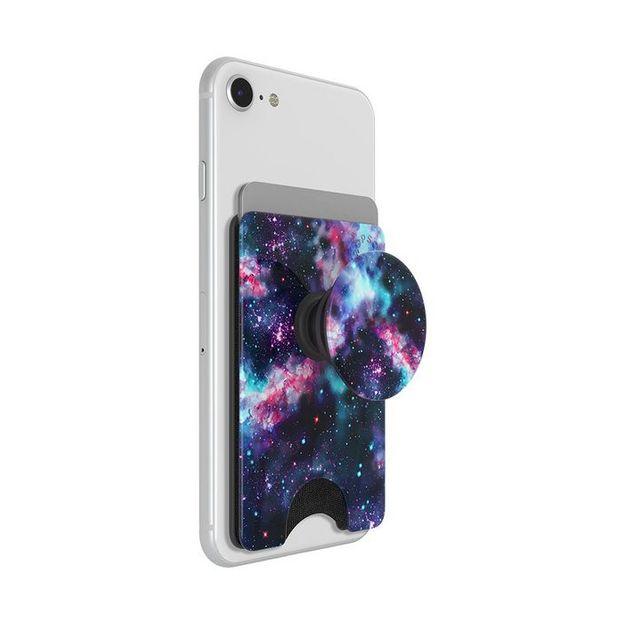 Porte-carte et poignée pour smartphone PopSockets PopWallet Galactic Nebula