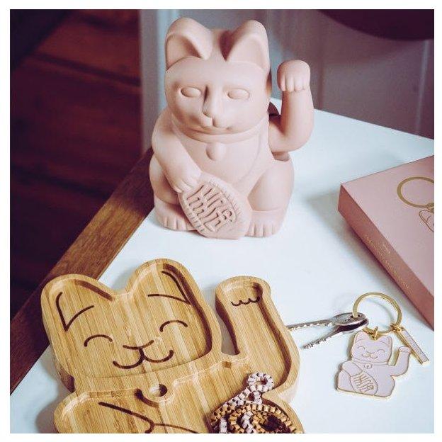 Porte-clés Chat Maneki-Neko, rose