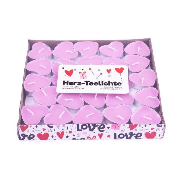 Teelichter Love 50 Stk. rosa