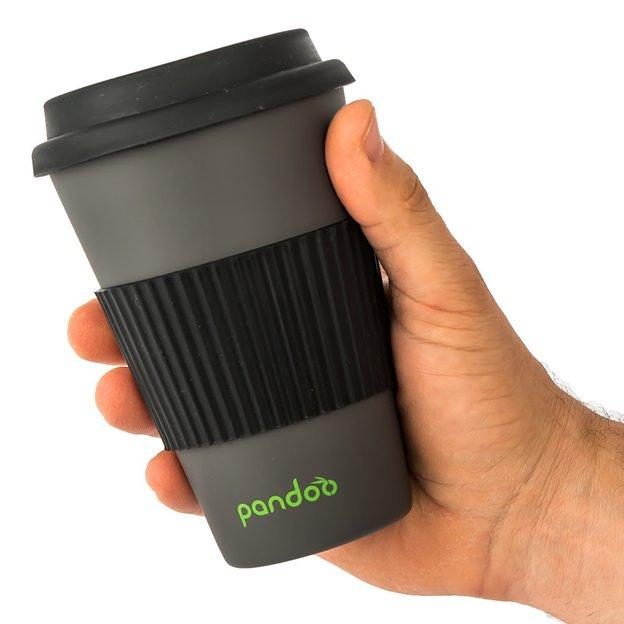 pandoo Bambus Kaffeebecher 450ml schwarz