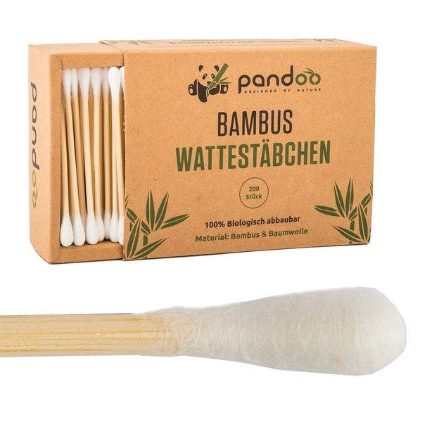 pandoo Bambus Wattestäbchen 200 Stk.