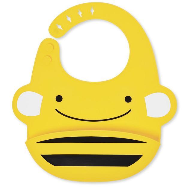 Personalisierbarer Babylatz aus Silikon Biene
