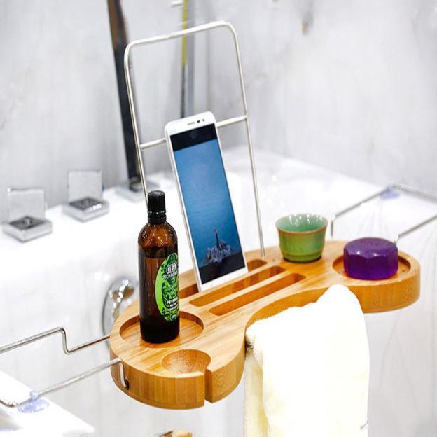 Personalisierbarer Badewannen Butler aus Bambus