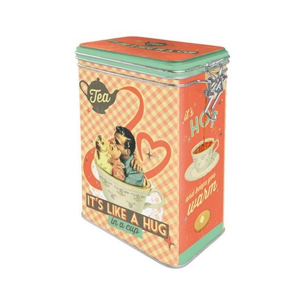 Boîte en métal Tea It's Like A Hug in a Cup