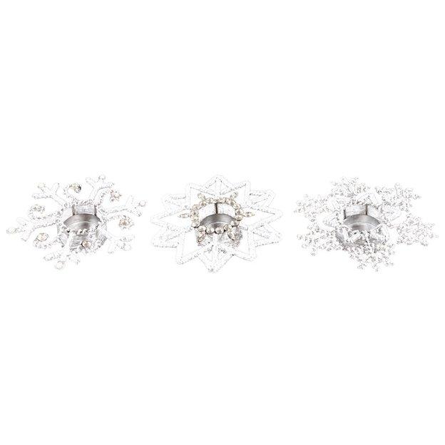Teelichthalter Diamond Dust 3-tlg