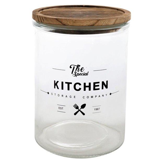 Vorratsdose Kitchen Holzdeckel