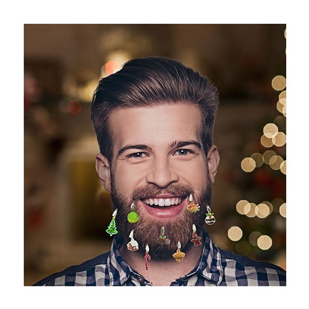 Christbaumschmuck für den Bart