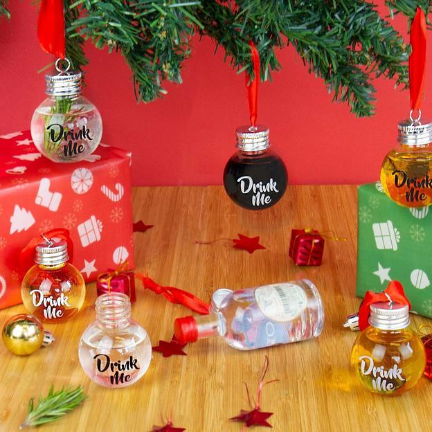 Schnaps Weihnachtskugeln zum befüllen