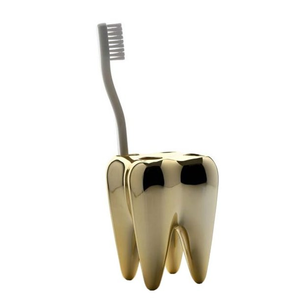 Zahnbürstenhalter gold