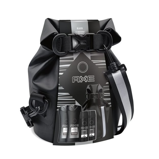 Axe Black mit Waterproof Washbag (Drybag)