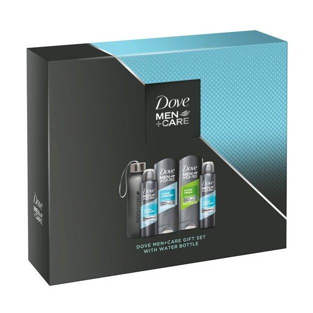 Dove Men+Care  Quattro Pack mit Wasserflasche