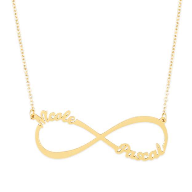 Collier personnalisé Infinity avec prénoms