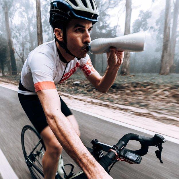 KEEGO Sport Titanum Trinkflasche silber