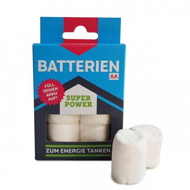 Marshmallow-Batterien zum Energie tanken