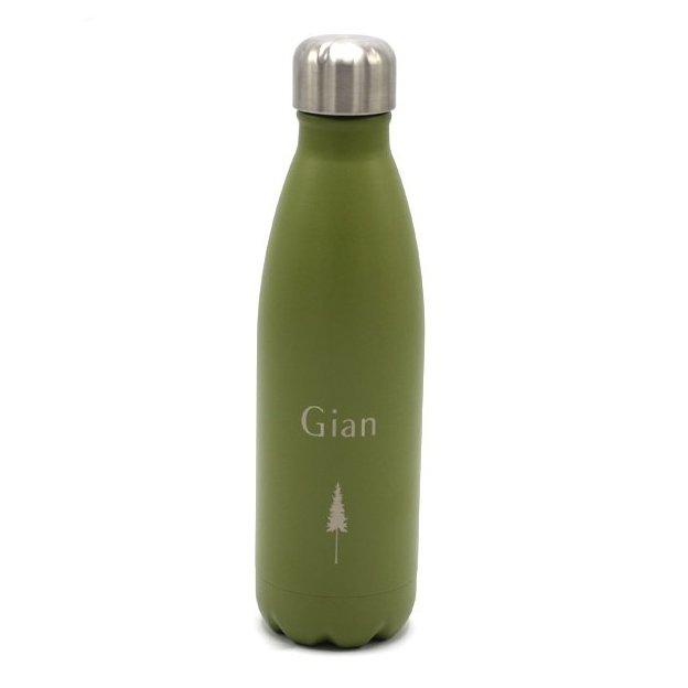 Nikin Personalisierte Trinkflasche Olive 500ml