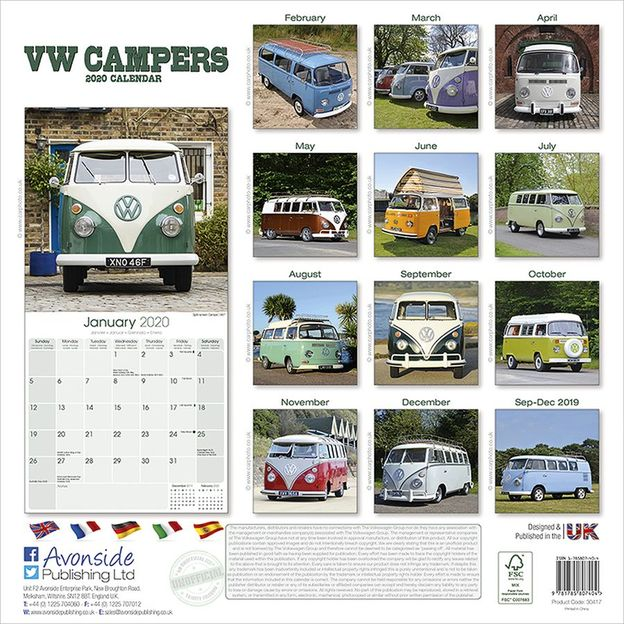 VW Bus Kalender Camper 2020 Bulli Volkswagen