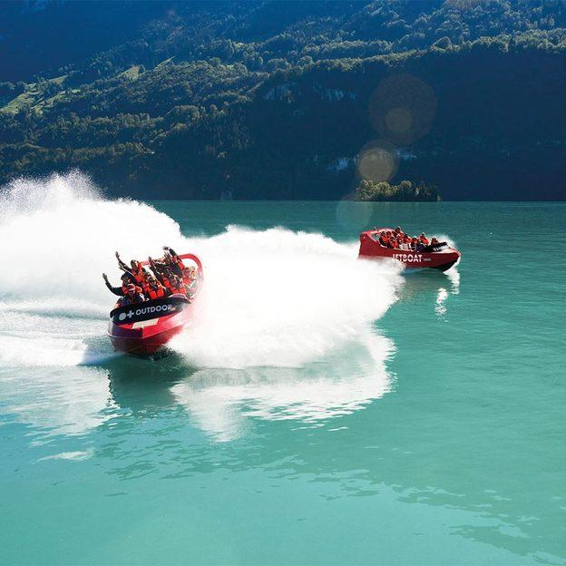 Excursion en bateau Jetboat à Interlaken (pour 1 personne)