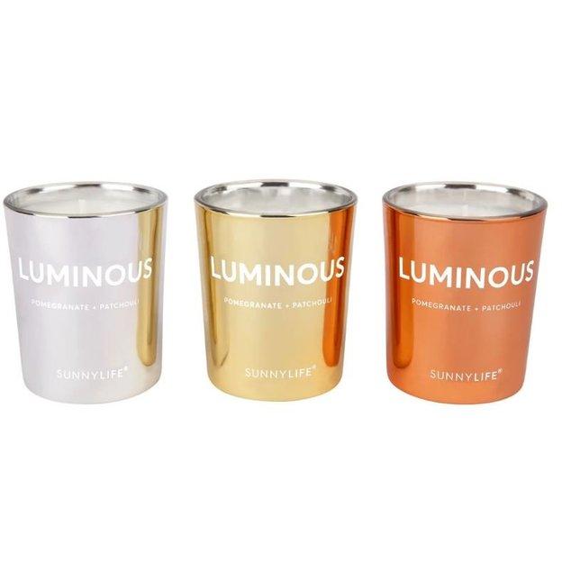 Set de bougies parfumées Sunnylife, 3 pièces