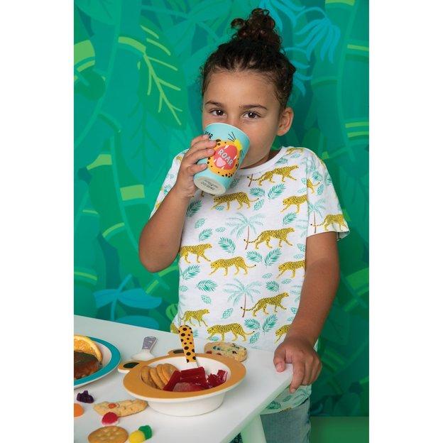 Vaisselle enfant en bambou Licorne Sunnylife