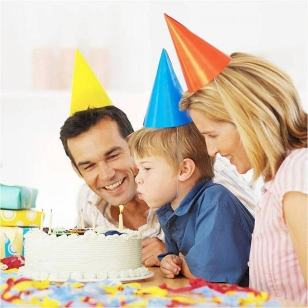 Nicht ausblasbare Geburtstagskerzen 10 Stück