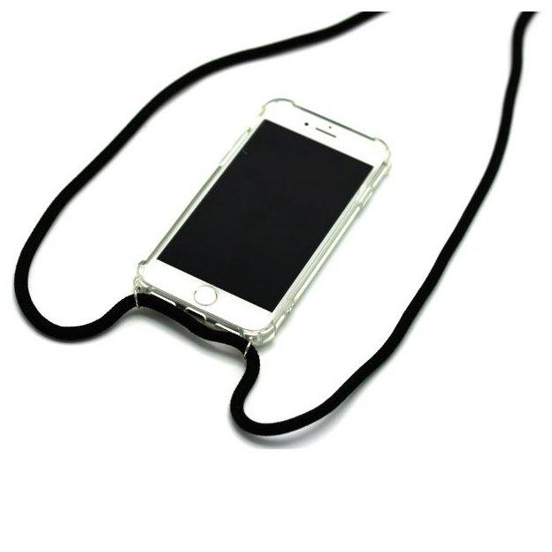 Handyhülle iPhone 6/7/8 Schulterbändel schwarz