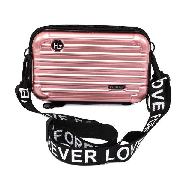 Sac à bandoulière mini-valise, rose