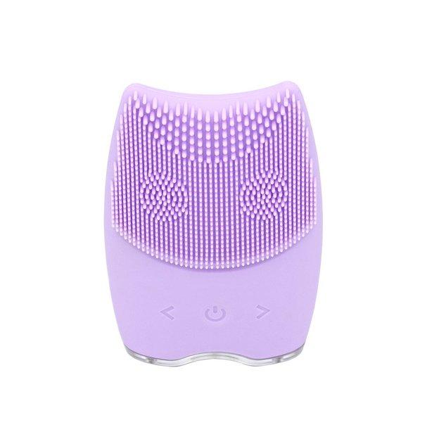Brosse électrique en silicone pour le visage, violette