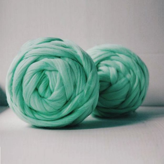Couverture Chunky Knit menthe