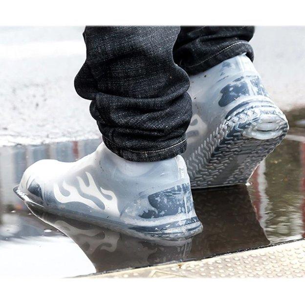 Latex Schuhüberzug transparent 2 Stk.