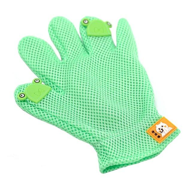 Fellpflege Handschuh für Haustiere mint