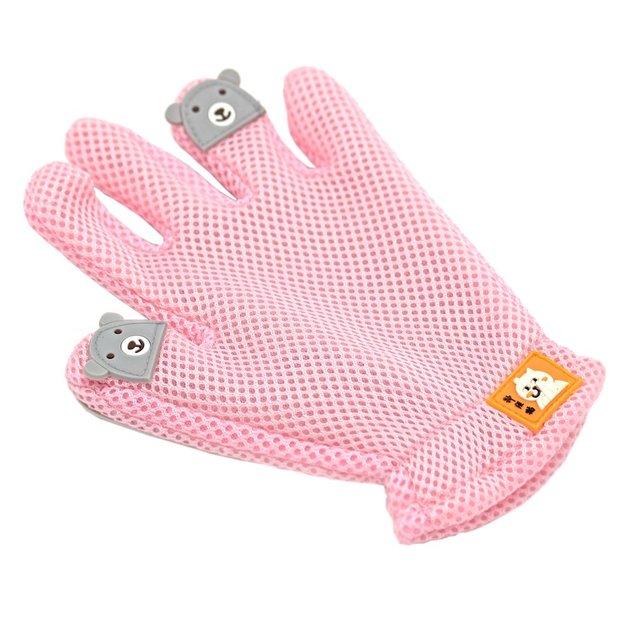 Fellpflege Handschuh für Haustiere rosa