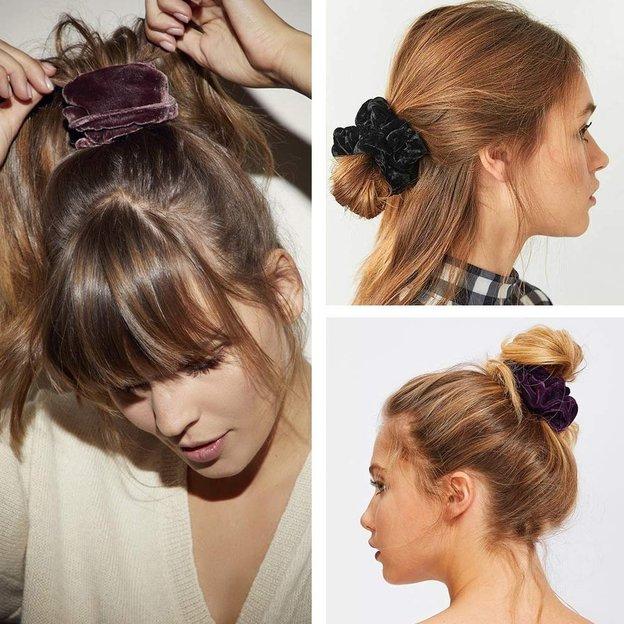 Haarbänder Scrunchies Samt 5er Pack